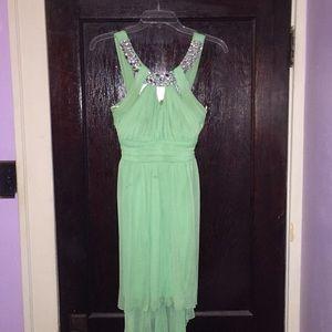 Debs Green High Low Dresses